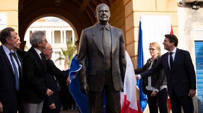 A peine installée, une statue de Jacques Chirac dégradée à Nice