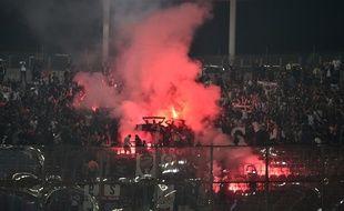 Des supporters de Galatasaray lors d'un match contre le PSG, le 1er octobre 2019 (photo d'illustration).
