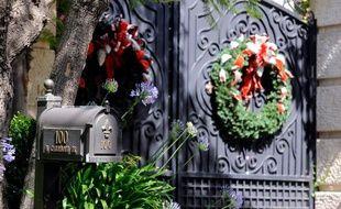 La résidence de Michael Jackson, à Beverly Hill où l'ambulance est venue le chercher