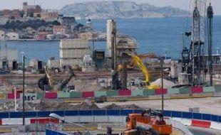Sur l'esplanade du J4, les travaux du Mucem ont démarré fin novembre 2009.