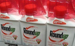Des bidons de Roundup aux Etats-Unis (image d'illustration).