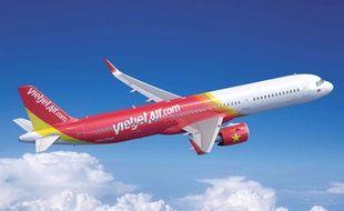 Le futur A321neo de la compagnie vietnamienne Vietjet.
