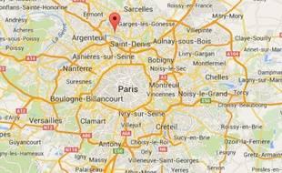 Google Maps d'Epinay-sur-Seine (Seine-Saint-Denis).