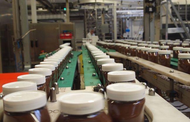 Une ligne de production du Nutella à Villers-Ecalles