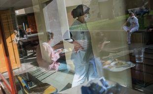 Dans un hôpital francilien pendant le confinement (archives).