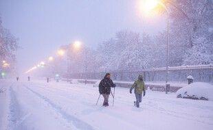 Des chutes de neige jamais vues se sont abattues sur Madrid et la Castille.