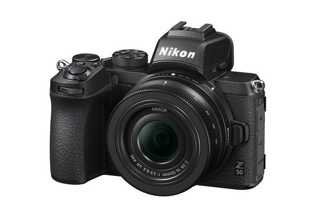 L'appareil photo Nikon Z50.