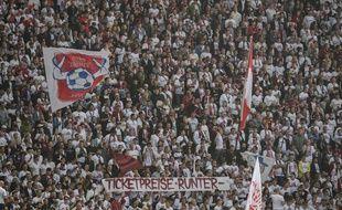 Les fans du RB Leipzig en Bundesliga.