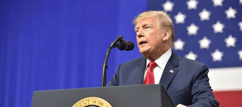 Donald Trump à Moon Township, en Pennsylvanie, le 11 mars 2018.
