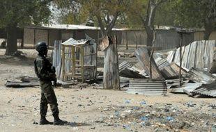 Un soldat camerounais en patrouille. (illustration)
