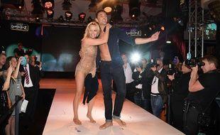 Pamela Anderson et son partenaire de «Danse avec les Stars» Maxime Dereymez, à Cologne en janvier 2019.