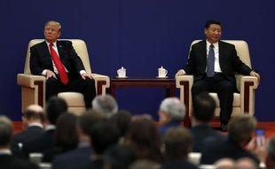 Donald Trump et le président chinois en novembre 2017