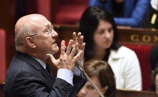 Le ministre du Budget, Michel Sapin à l'Assemblée Nationale,le 11 juin 2014