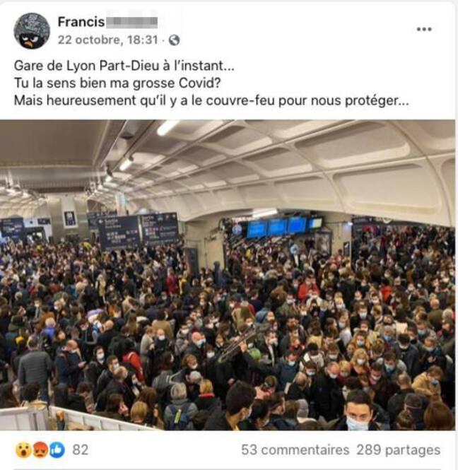 L'homme qui a pris cette photo devenue virale reconnaît qu'elle n'a pas été prise un jour ordinaire à la gare de Lyon Part-Dieu.