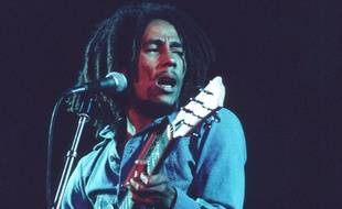 Bob Marley lors d'un concert en 1975.