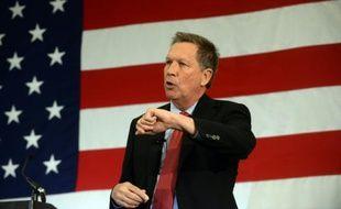 Le gouverneur de l'Ohio, John Kasich, le 18 avril 2015 à Nashua, dans le New Hampshire