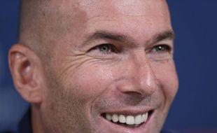 Zinédine Zidane en conférence de presse à la veille de Real Madrid-PSG, le 25 novembre 2019.