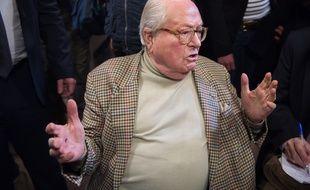 Jaan-Marie Le Pen à Nanterre le 22 mars 2015