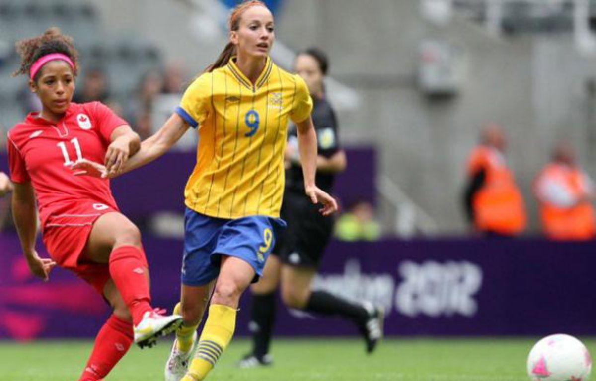 Kosovare Asllani, nouveau recrue du PSG, sous les couleurs de l'équipe de Suède le 31 juillet 2012 à Newcastle. – S.Heppel / SIPA