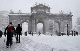 Madrid sous la neige, le 8 janvier 2021.