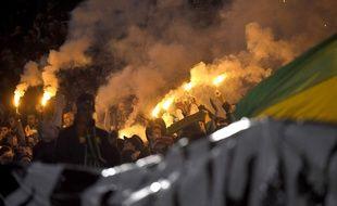 Des fumigènes allumés lors de FCN-Saint-Etienne.