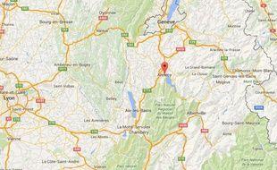Carte situant Annecy (Haute-Savoie)