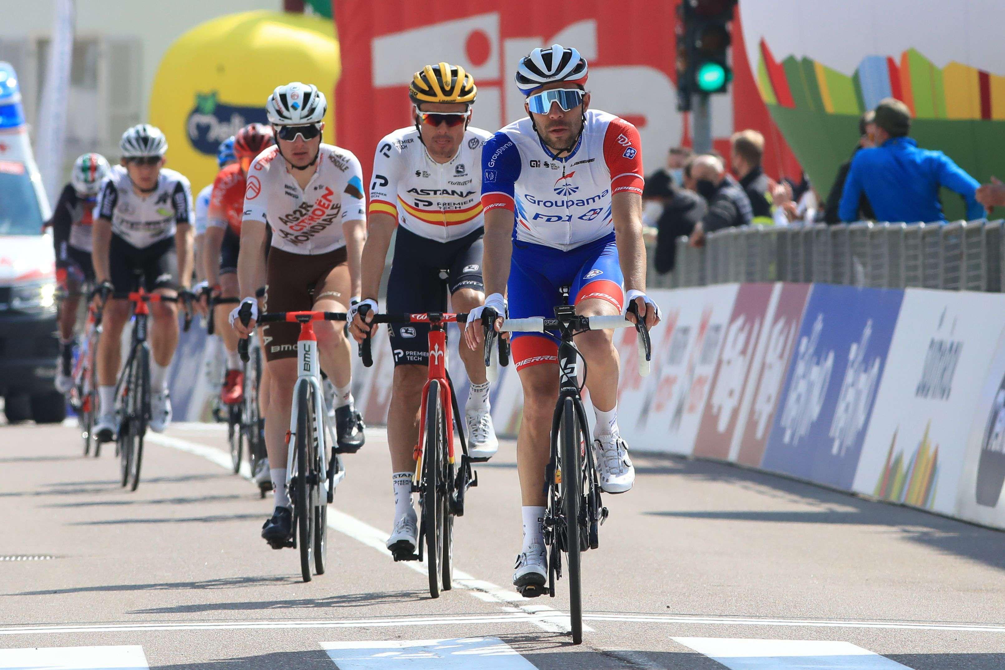 Thibaut Pinot n'a pas pu tenir le rythme lors du Tour des Alpes, en avril 2021.