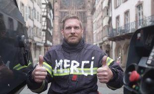 Le clip des sapeurs-pompiers strasbourgeois annonçant le report du bal du 13 juillet 2020.