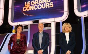Alessandra Sublet, Didier Deschamps et Brigitte Macron