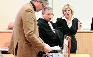 Sylvie Andrieux à l'ouverture de son procès le 11 mars, à Marseille.