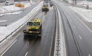 Photo d'illustration de chasse-neige, ici en mars sur l'A43 près de Chambéry (Savoie).  KONRAD K.