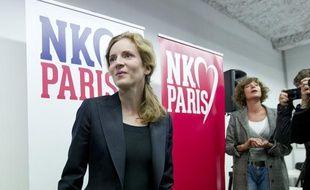 Nathalie Kosciusko-Morizet présente ses têtes de listes pour les municipales 2014 à Paris, dans son QG parisien rue de la Lune, le 10 octobre 2013.