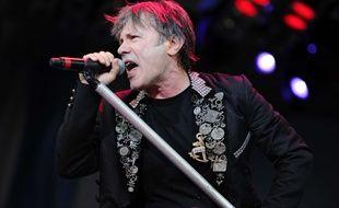 Bruce Dickinson au Hellfest en juin 2014