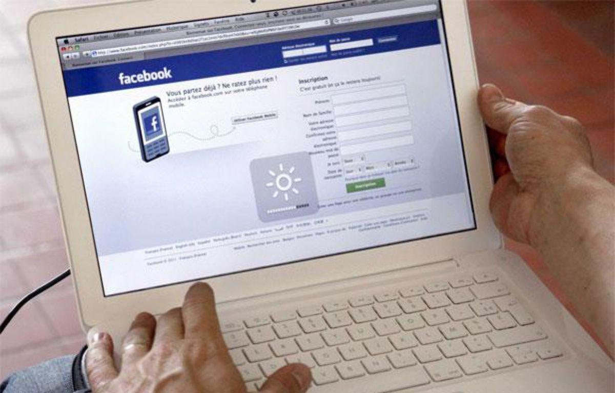 Page d'accueil du site Facebook. – CLOSON DENIS/ISOPIX/SIPA