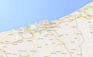 Google map de Saint-Pol-sur-mer (Nord).