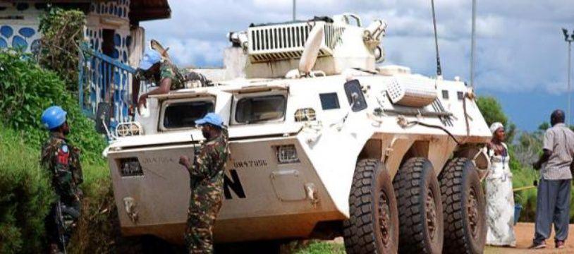 Des soldats de la Monusco le 23 octobre 2014 à Beni, en RDC