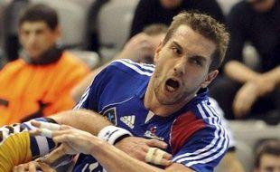 Le handballeur français Guillaume Gille, lors du match France - Australie, le 19 janvier 2009, en Croatie.