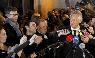 Dominique de Villepin à la sortie du verdict Clearstream, le 28 janvier 2010.