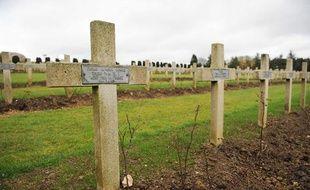 Photo prise à l'ossuaire de Douaumont, créé après la bataille de Verdun (1916), le 11 novembre 2008, lors de la commémoration des 90 ans de la fin de la Première guerre mondiale.