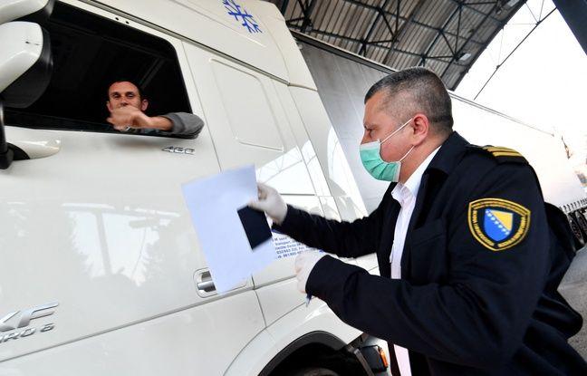 648x415 controle douanier frontriere entre bosnie herzegovine croatie cote bosnien illustration