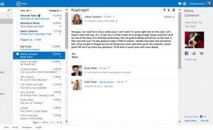 La nouvelle interface d'Outlook.com, qui va remplacer Hotmail.com