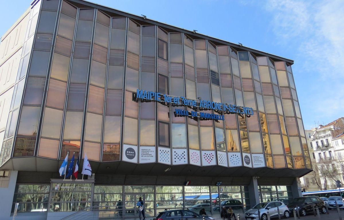 Marseille, le 10 mars 2015, un cinema va etre construit à la place de la mairie du 1/7, sur la Canebière. – Mickaël Penverne / 20 Minutes