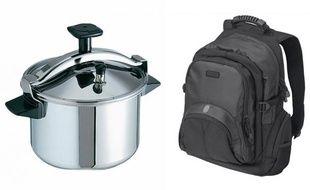 Une cocotte-minute et un sac à dos, deux objets utilisés dans l'attentat de Boston pour fabriquer la bombe et la transporter.