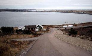 La baie de Miquelon le 23 décembre 2014 à Saint-Pierre et Miquelon