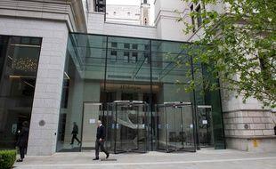 La banque JP Morgan à Londres, le 5 mai 2017.
