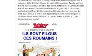 Capture écran site http://www.charentelibre.fr/ d'une page Facebook de la gendarmerie de la Charente.