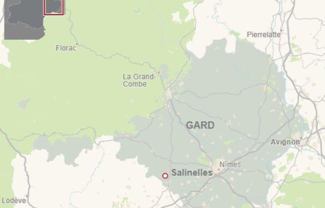 La commune de Salinelles, dans le Gard.