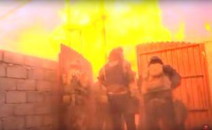 Capture d'écran du reportage capté par l'équipe de la BBC Arabic à Mossoul en Irak.