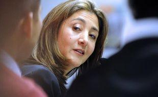 Ingrid Betancourt lors d'une conférence à l'Institut d'études politiques de Lille (Nord), le 22 novembre 2010.