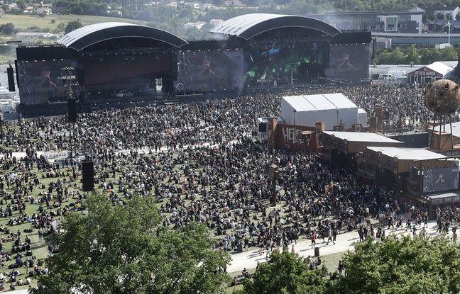Vue aérienne du Hellfest édition 2019
